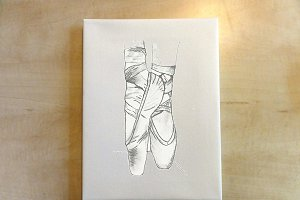 Ballet Shoes: Hand drawn
