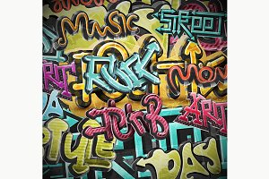 Graffiti Grunge Background