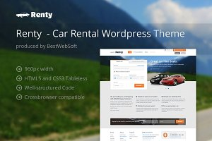 Renty - Car Rental WordPress Theme