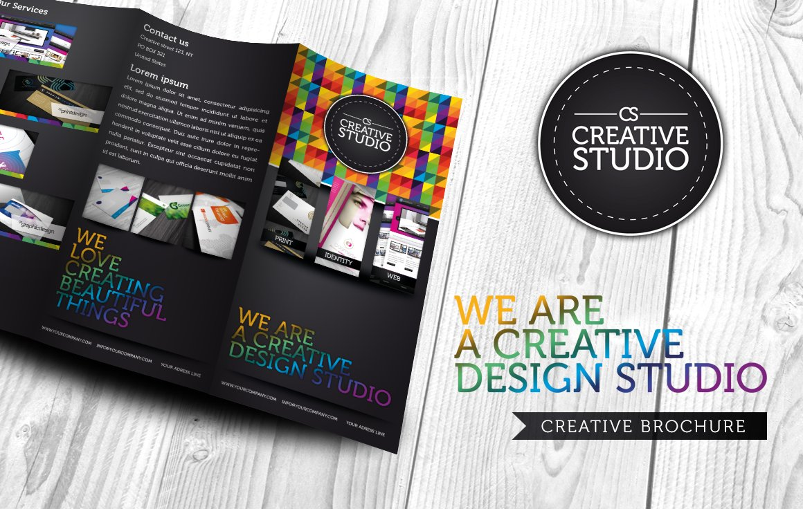 RW Creative Colourful Brochure Brochure Templates Creative Market – Studio Brochure