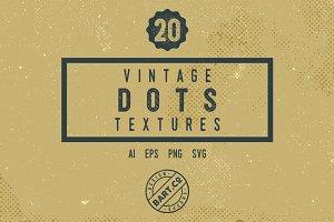 20 Vintage Dots Textures