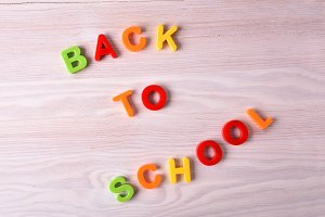 Back to school with colorful letters