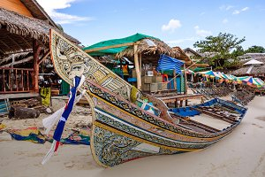 Long tail boat in Phi Phi Island