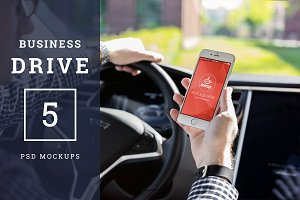 5 PSD Mockups Business Drive