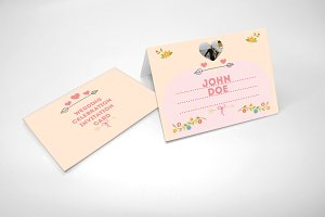 Foldable wedding card pack