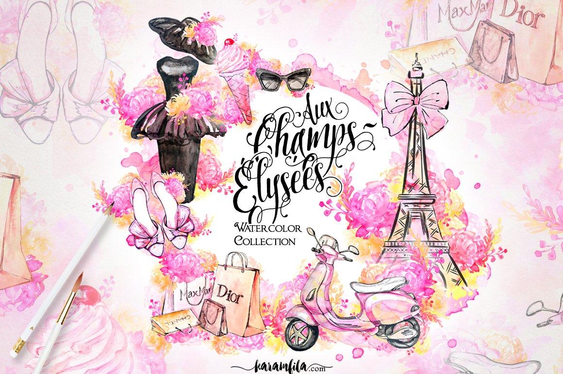 Paris Fashion Clipart Illustrations Creative Market