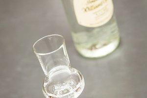 clear hard liquor