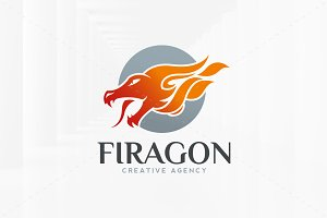 Fire Dragon Logo Template