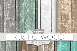 Rustic wood digital paper