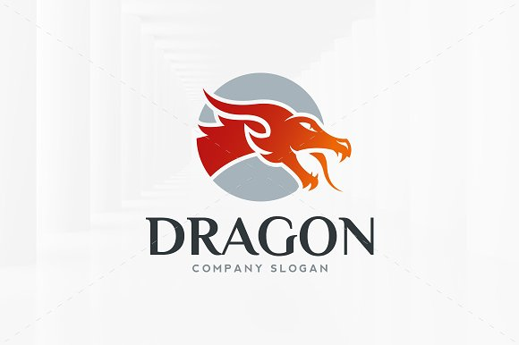 Dragon Head Logo Template