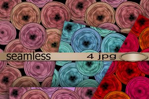 Seamless textile patterns - roses.