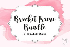 Bracket Frame Bundle // Vector, PNG