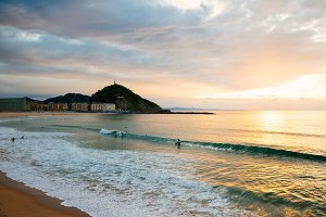 Zurriola beach in San Sebastian