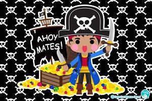 Digital Clipart  Ahoy Mates