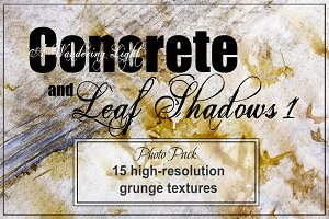 Concrete and Leaves 1 Texture Pack