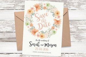 Save the Date card DIY template 07