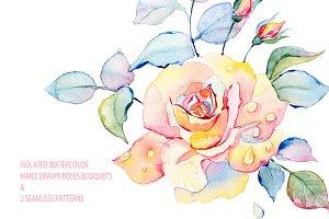 Watercolor roses pack.