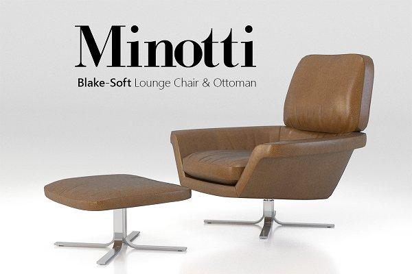 Furniture - Minotti Blake-Soft lounge chair set