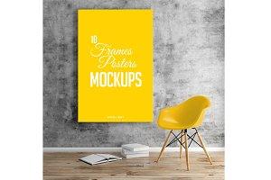 10 Frames/Posters Mockups