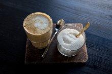 cappuccino and sugar
