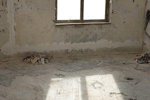Abandoned empty room