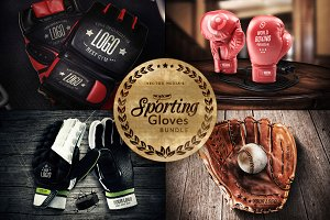 Sporting Gloves - Mockups [BUNDLE]