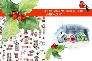 Christmas seamless patterns & kit