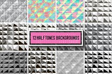 12 Halftone backrounds.