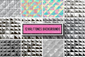 12 Halftone backrounds.