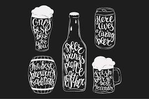 Beer pint lettering