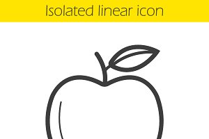 Apple linear icon. Vector