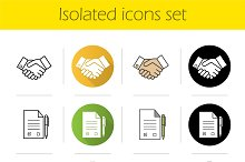 Business. 12 icons set. Vector