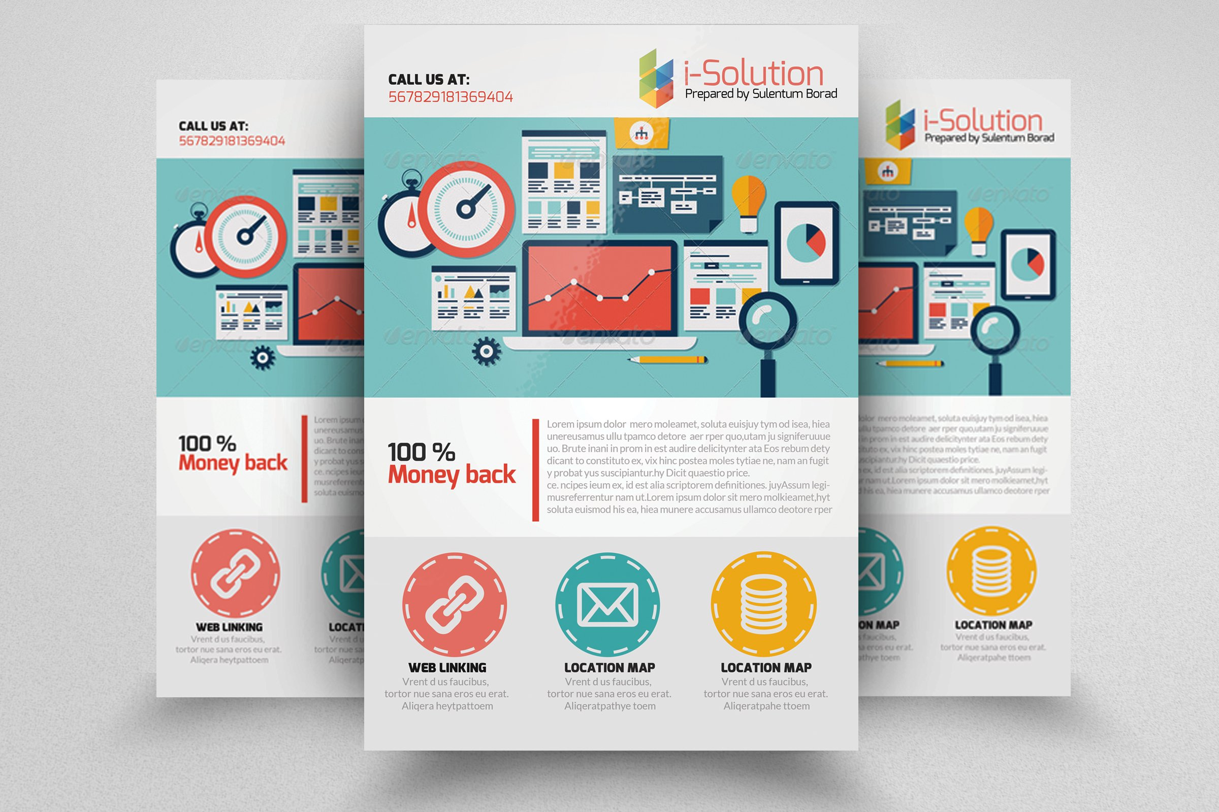 SEO Flyer Template ~ Flyer Templates ~ Creative Market