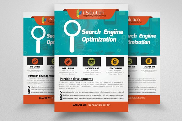 SEO Flyer Template Flyer Templates on Creative Market – Template for a Flyer