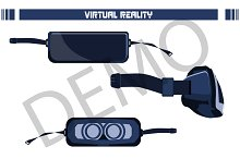 virtual reality glasses. Vector