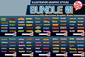 Illustrator Graphic Styles Bundle 01