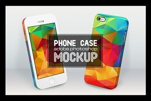 Smartphone cases PSD mockup