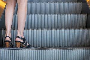 escalators stairway in building