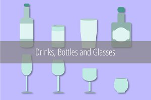 Drinks, Bottles and Glasses Vectors