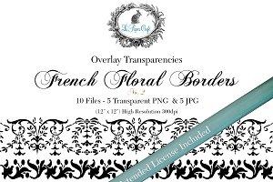 Vintage Floral Border Overlays 2