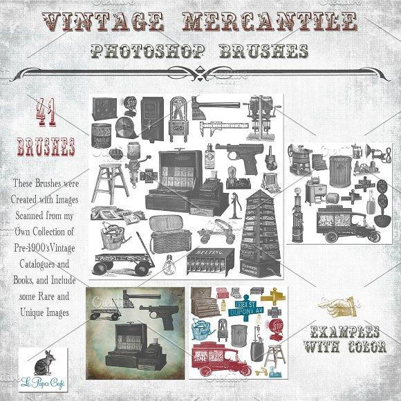 Vintage Mercantile Photoshop Brushes