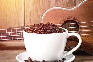 coffee wit ukulele