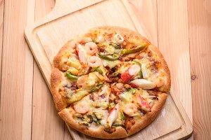Seafood Italian Pizza slice
