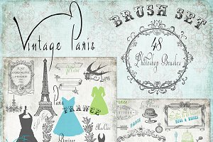 Vintage Paris- French Brush Set