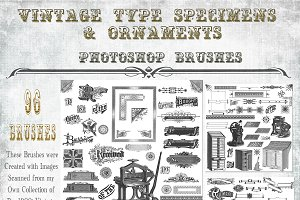 Vintage Type & Ornament Brush Set