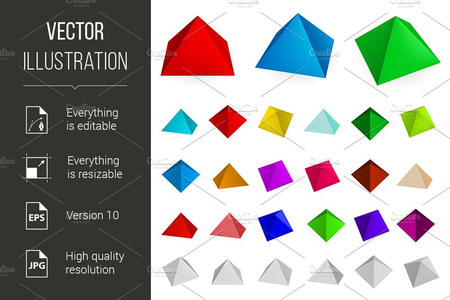 Pyramids in Graphics - product preview 8