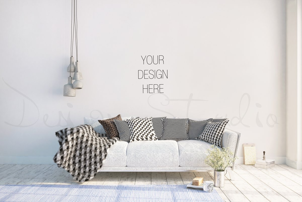 Interior psd living room photo product mockups Design m living room free