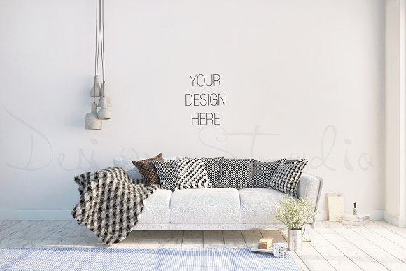 interior PSD, living room photo ~ Product Mockups on Creative Market