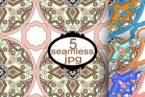 Ethnic seamless pattern in Eastern.