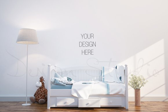 Download interior PSD, Nursery room photo